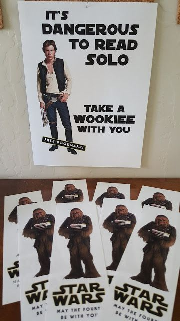 A Star Wars Library Display with free printables! Just in time for May the Fourth Be With You