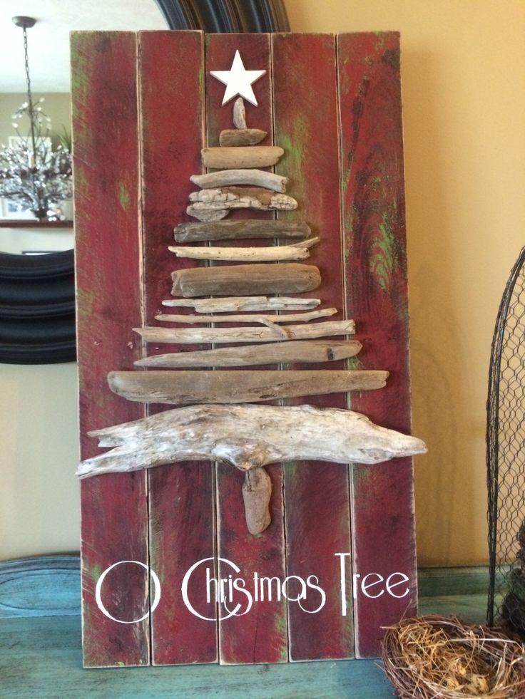 O Christmas Tree Reclaimed Wood Sign from by HollyhocksHydrangeas