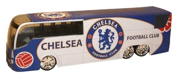 Chelsea FC Spelersbus Thuis Wit-blauw - logo