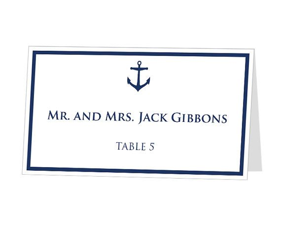 INSTANT DOWNLOAD  Editable Printable Place Cards by 43Lucy on Etsy, $9.95