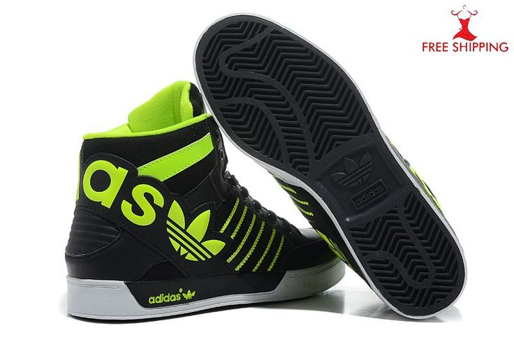 high top adidas | Adidas High Tops Shoes Mens Retro Synthetic Lime Black