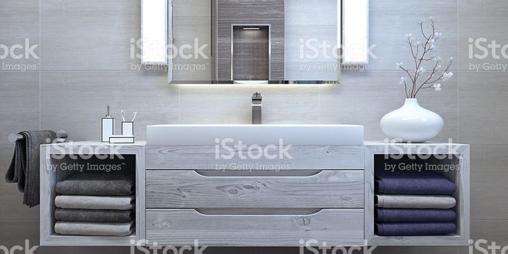 Modern interior design of bathroom royalty-free stock photo
