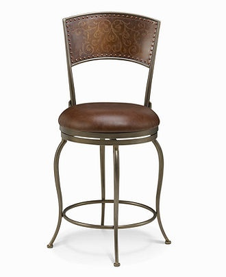 San Sebastian Chair Metal Back Leather Bar Stool