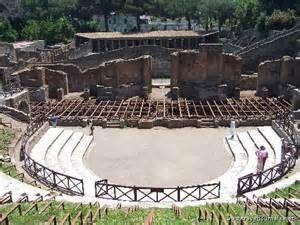 Ruins of Pompeii.  Naples Italy