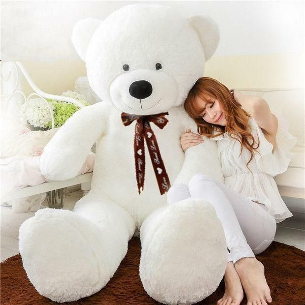 78''/200cm Giant White Plush Teddy Bear Stuffed Huge Soft Toy Doll Birthday  Gift #Ad , #affiliate, #Whit… | Teddy bear images, White teddy bear, Teddy  bear pictures