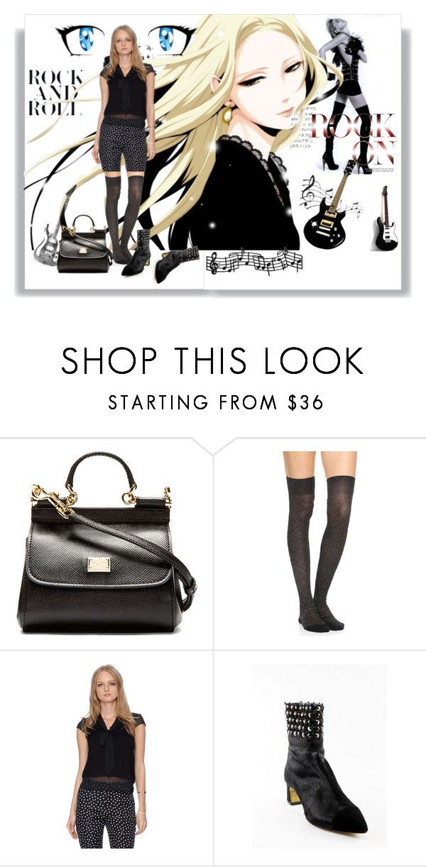 """""""ANIME ROCK AND ROLL"""" by chris-hawkins ❤ liked on Polyvore featuring Dolce&Gabbana, Missoni, Dorothy Perkins and Fabi"""