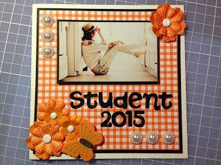 Randis hobbyverden: STUDENTKORT i orange/svart/hvitt