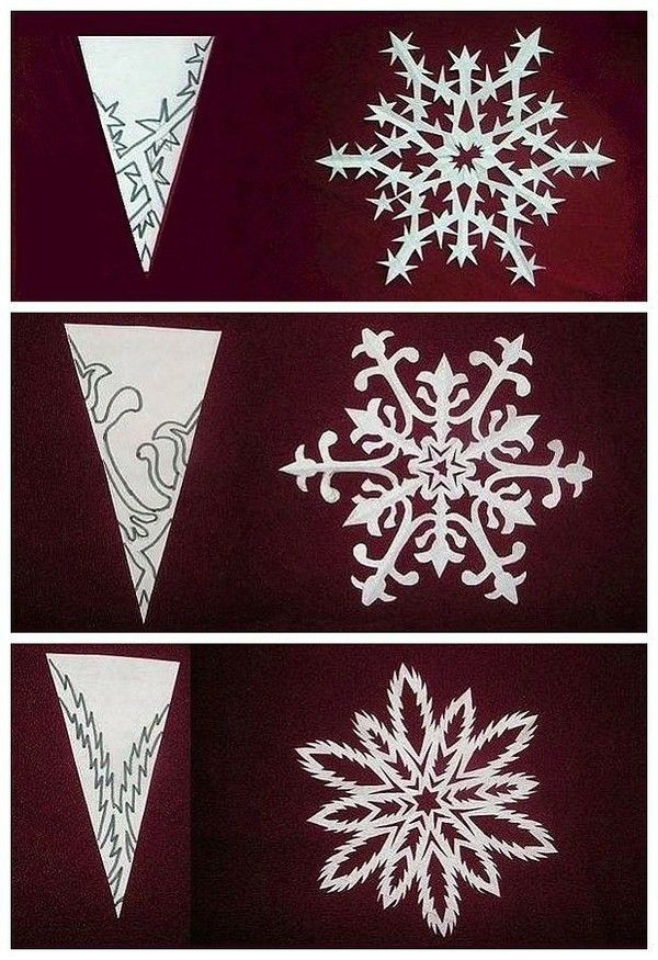 diy origami paper cut snowflakes holidays special