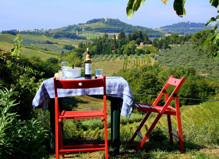 lunch for two with Tuscany around at ;Poderi in Chianti;
