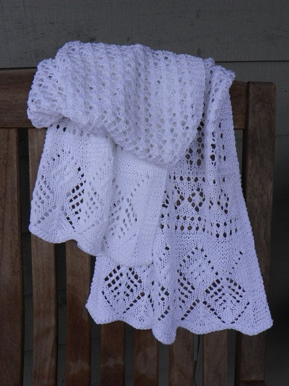 Knitting pattern for Lace Shawl White by suelillycreations on Etsy, $3.25