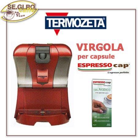 Macchina Termozeta VIRGOLA per capsule Espresso Cap - Colori Disponibili - ROSSO e PLATINUM
