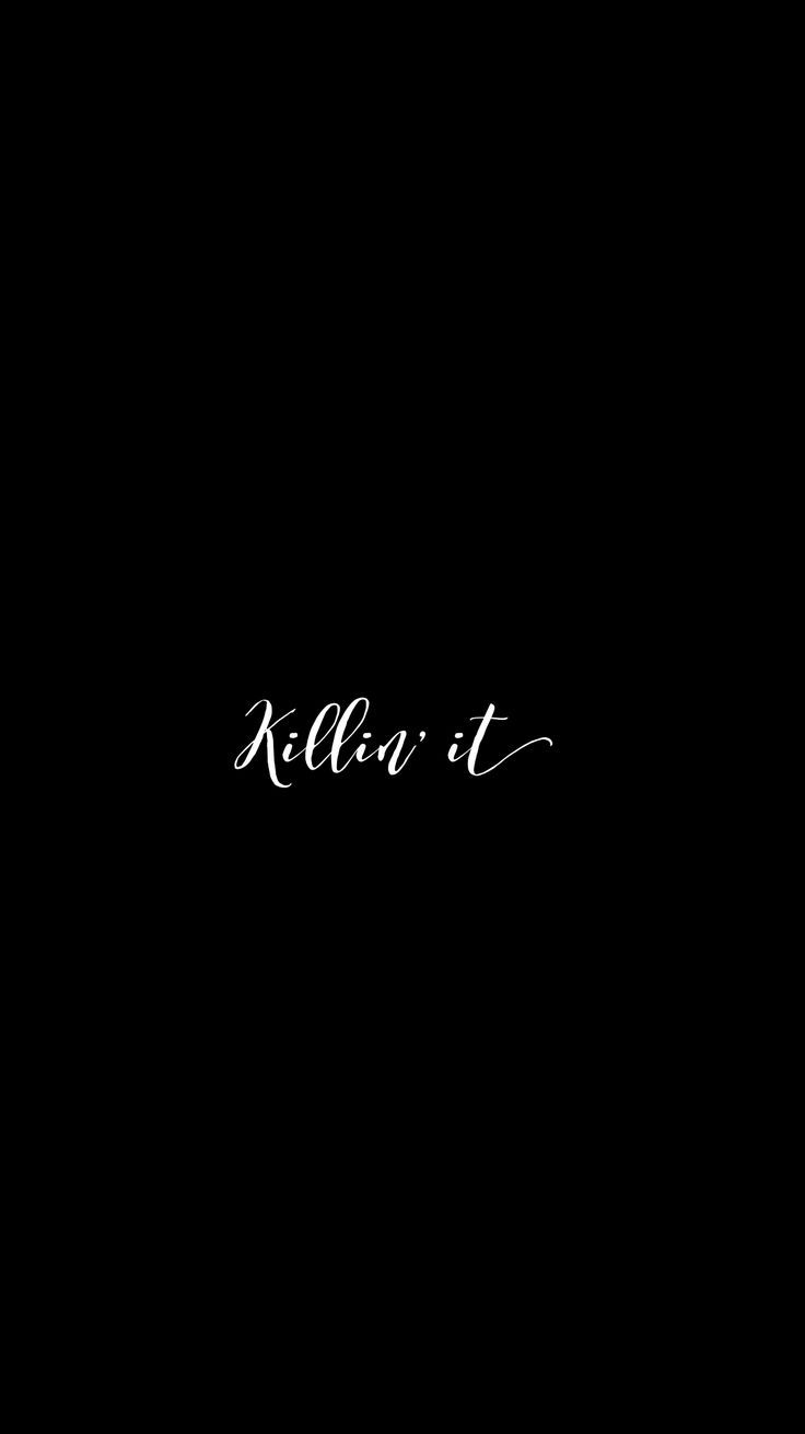 Black Slay Iphone Mobile Wallpaper Calligraphy Edit Black Background Quotes Wallpaper Quotes Wallpaper Iphone Quotes