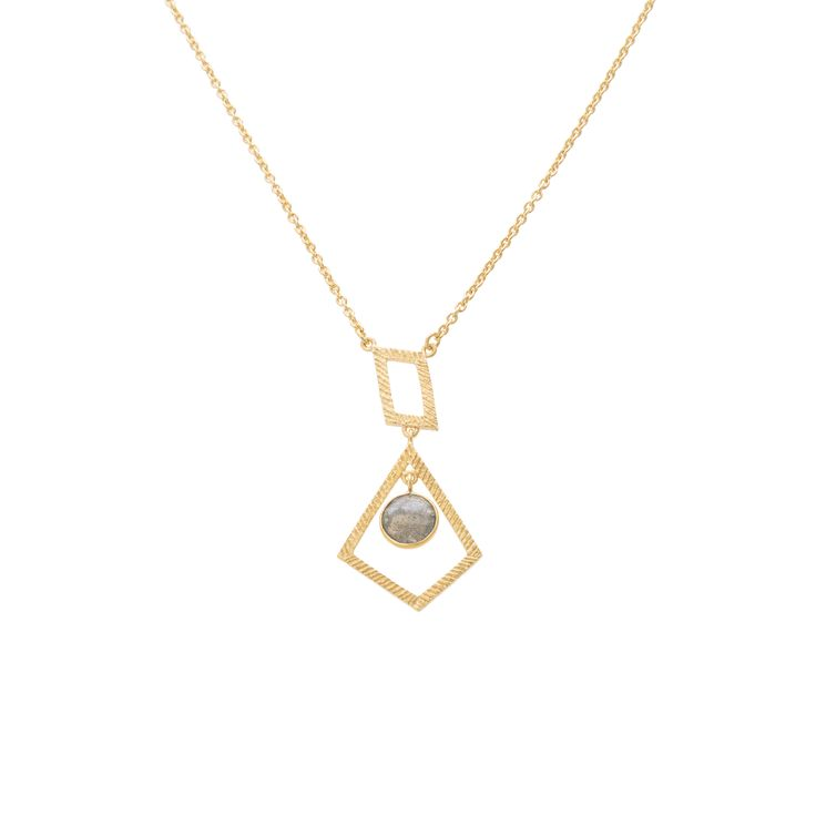 Buy the Sofia Geo Drop Necklace at Oliver Bonas. Enjoy free worldwide standard delivery for orders over £50.