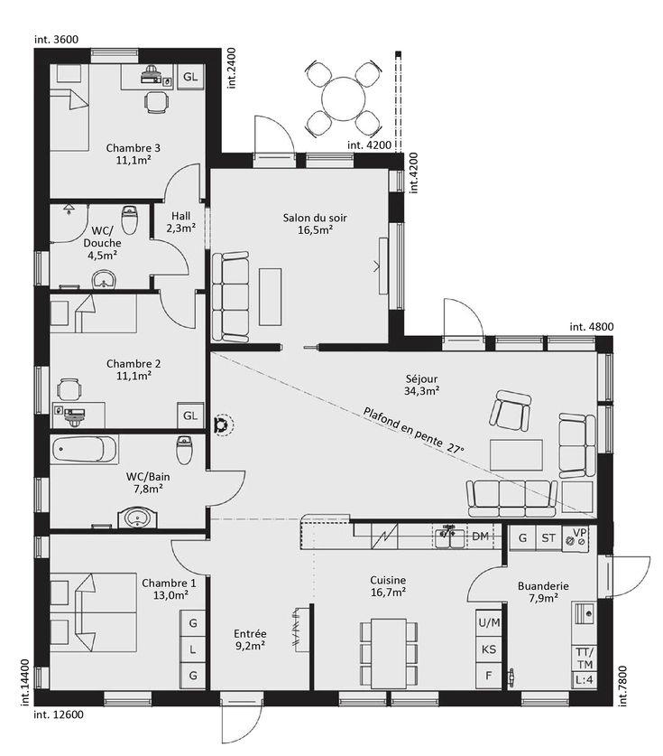 Les 40 meilleures images du tableau plans maisons sur for Plan maison futuriste