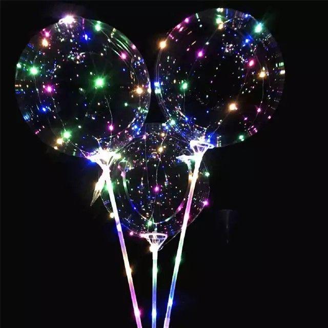 Reusable Luminous Led Balloon Transparent Round Bubble Decoration Party Wedding