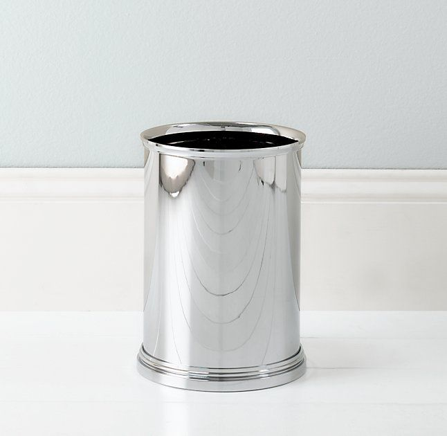 RHu0027s Newbury Wastebasket:The Materials In Our Newbury Bath Accessories Are  Impervious To Water, Resistant To Rust And Quick To Clean.