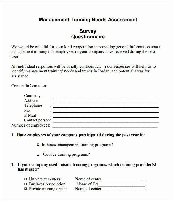 Lovely Sample Needs Assessment Survey Template 8 Free Survey
