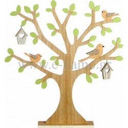 Διακοσμητικό Ξύλινο Δέντρο με Πουλάκια Διάσταση: 45cm x 48cm