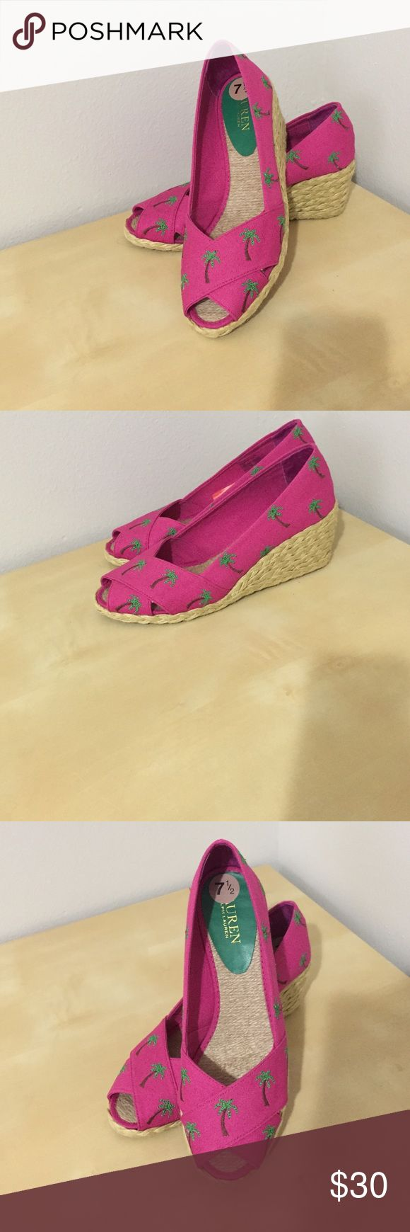 Lauren Ralph Lauren Canvas Pink Lauren Ralph Lauren Canvas Pink 7,5 Lauren Ralph Lauren Shoes Wedges