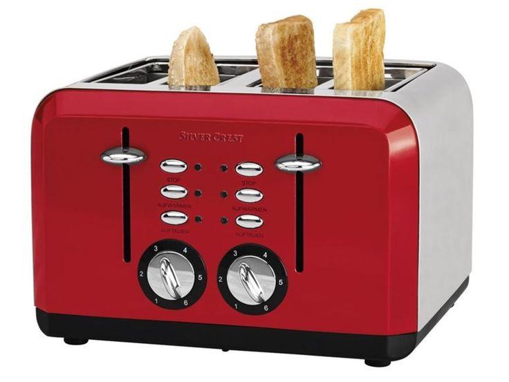 SILVERCREST® Grille-pain avec 4 fentres (rouge) | LIDL