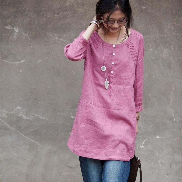 81 best Womens Linen Shirts images on Pinterest   Linen shirts ...