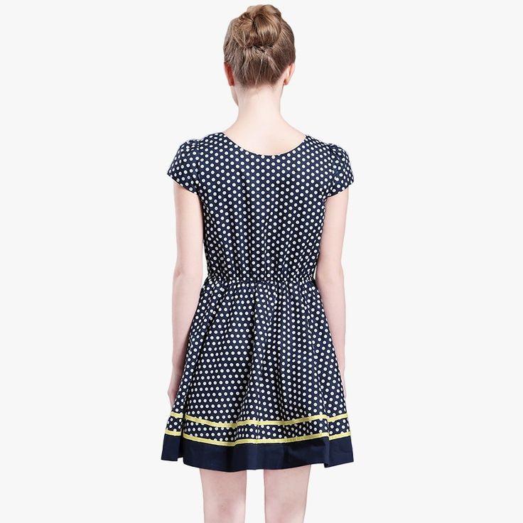 Vogue Vintage Slimming A-line Polka Dot Summer Dress - OACHY The Boutique #vintage, #vogue, #polka, #summer, #line