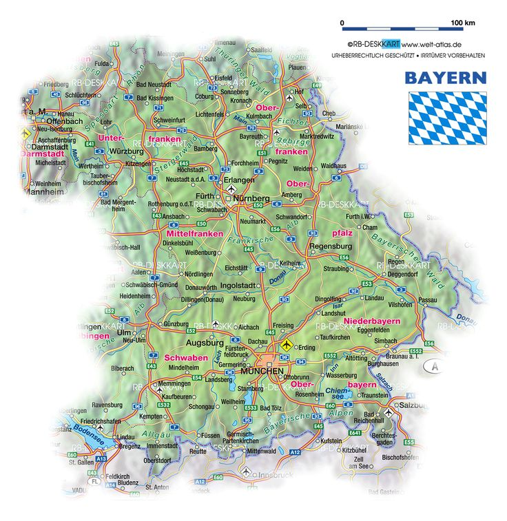 bayern regierungsbezirke karte