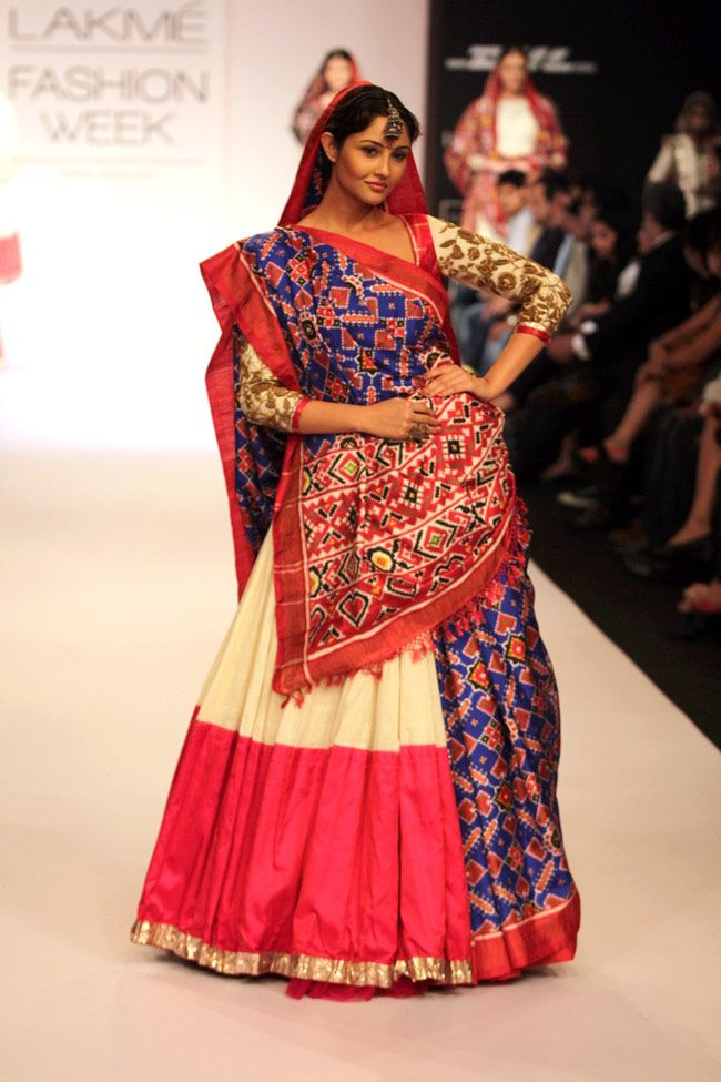 Beautiful piece from Gaurang Shah's Lakme Fashion Week Winter-Festive 2013 Collection. Love the blend of ethnic patterns.