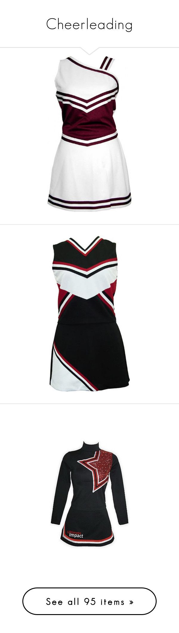 """Cheerleading"" by thelilfujoshi on Polyvore featuring cheerleading, dresses, cheer, sports, uniform, cheerleading uniforms, cheerleader, tops, blue striped top e knit top"