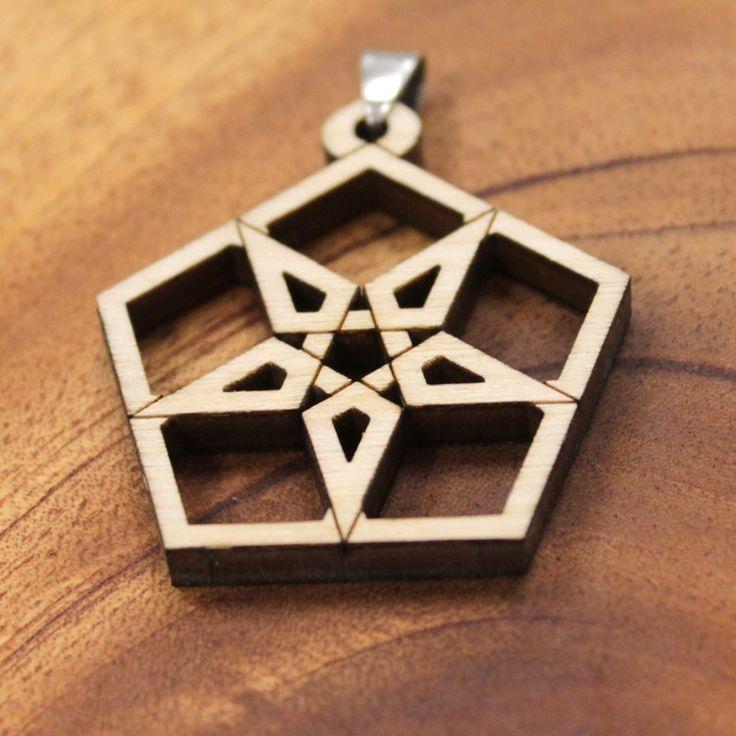 Favorite Number Pendant: 5 - Naked Geometry