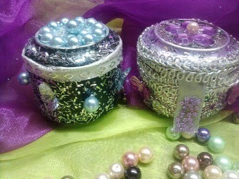 DIY Cajitas/ Souvenirs con latas de aluminio- Aluminium cans  Souvenirs/...