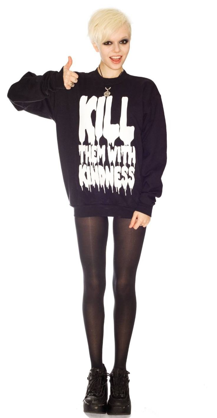 Petals and Peacocks- Kill Them With Kindness Sweatshirt http://www.dollskill.com/petals-and-peacocks-kill-them-with-kindness-sweatshirt.html