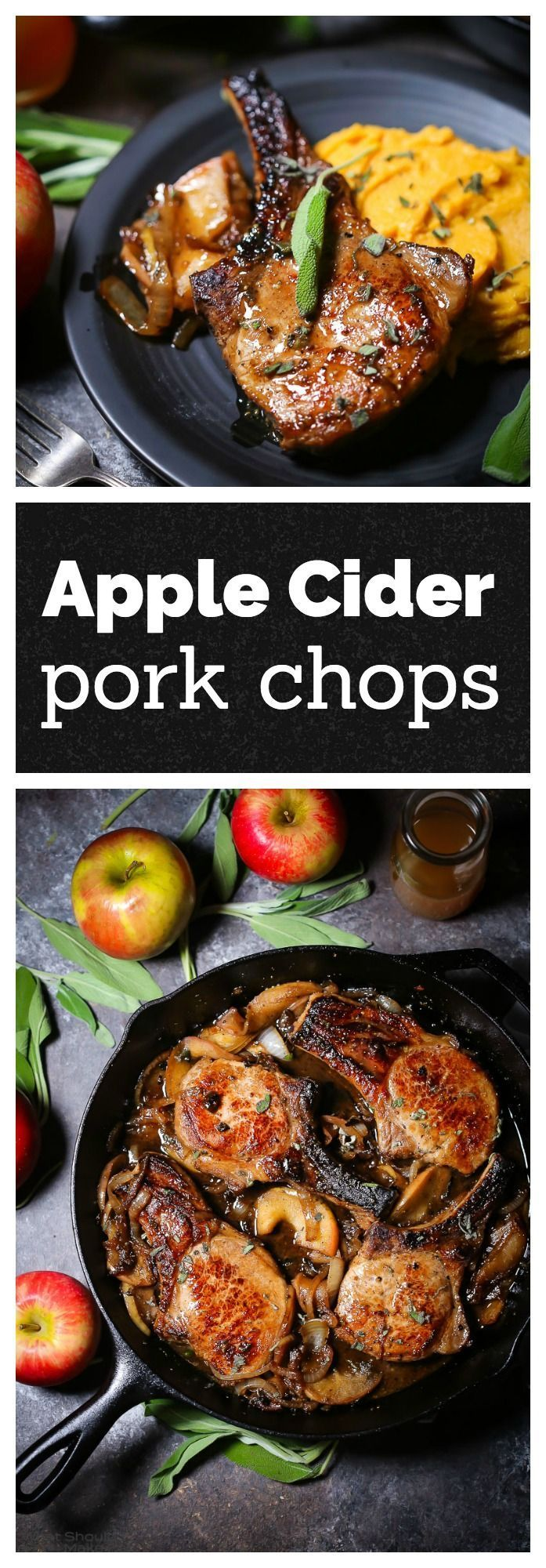 Tender pork chops are quickly brined before being seared and cooked with apples and onions in a flavorful cider sauce.