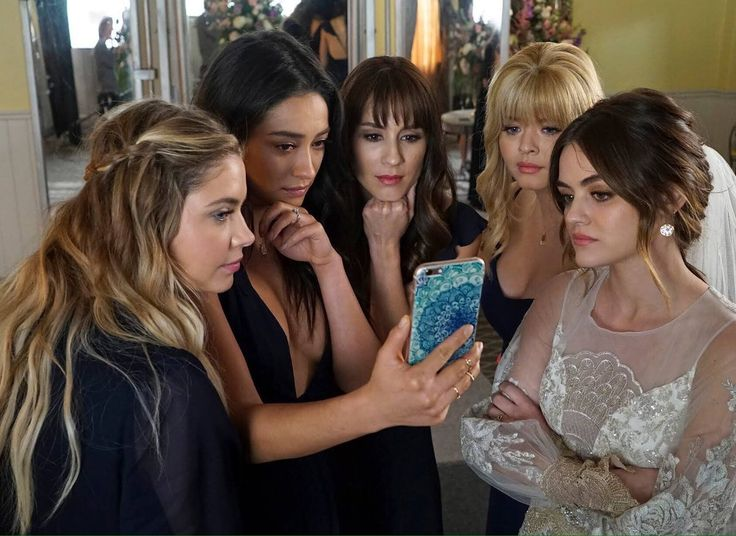 Stills from the last episode (7x20) of Pretty Little Liars.