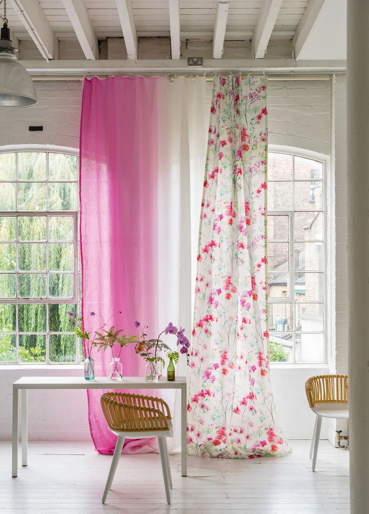 Designers Guild Corsage fabric, paired with our ombre Saraille fabric