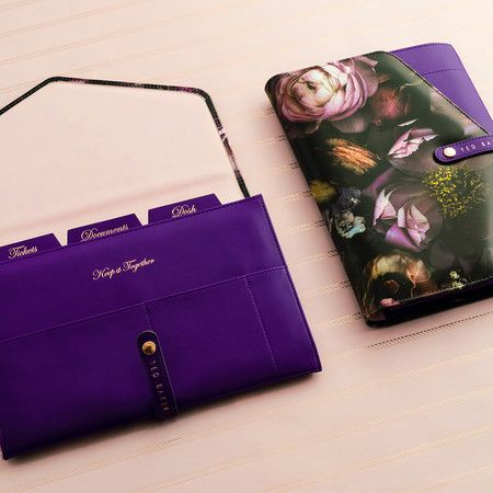 Ted Baker - Shadow Flora Travel Documents Holder