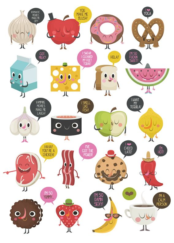 ALL YOU NEED IS FOOD by Federico Bonifacini, via Behance