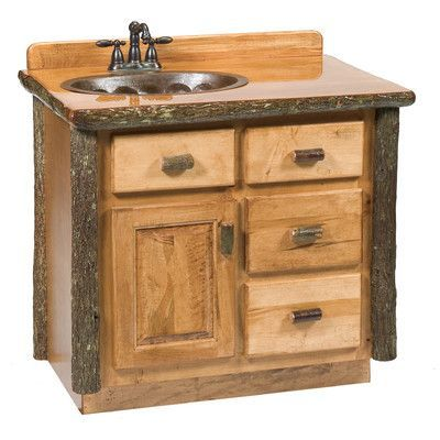 Image Gallery Website Fireside Lodge Hickory Bathroom Vanity Base Orientation Center Base Finish Rustic