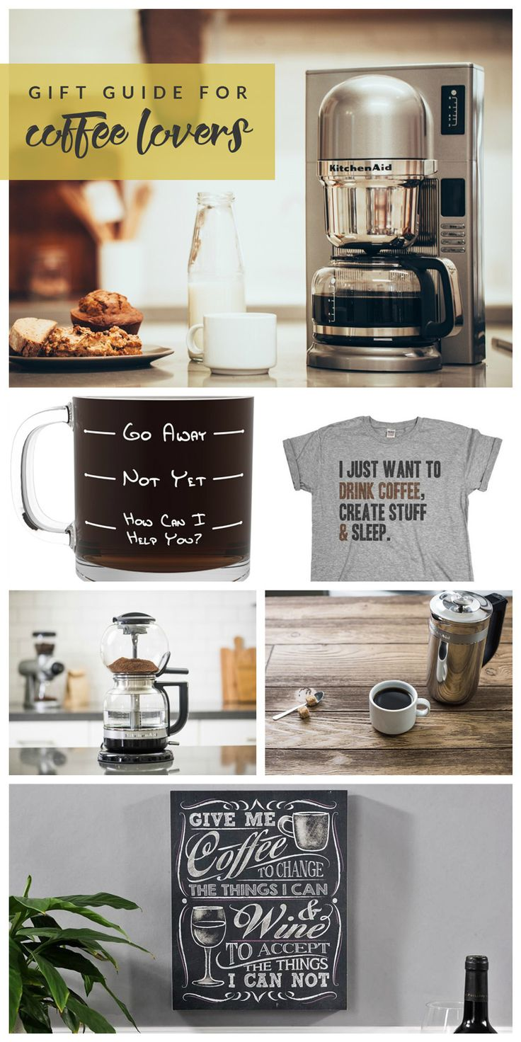 Not sure what to get the coffee junkies in your life? This Gift Guide for Coffee Lovers has you covered! From coffee makers to mugs to home decor + more! [ad] #KACraftCoffee @KitchenAidUSA
