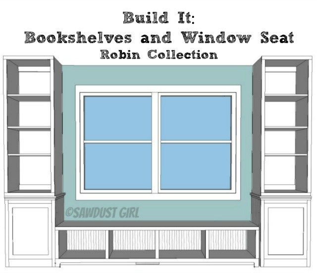 Today I'm sharing the plans for the bookshelf base that flanks the window seat bench in Robin's playroom.