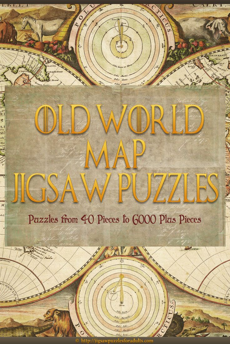 Looking for an Old World Map Jigsaw