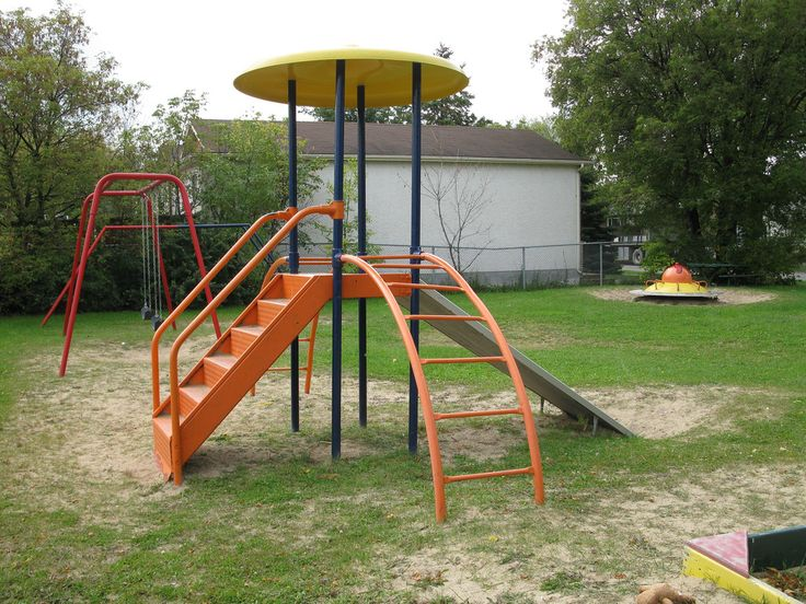 old playground equipment outdoor