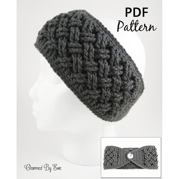 Crochet Pattern PDF - Aislinn Celtic Dream Head Wrap Ear Warmer Headband - Toddler to Large Adult