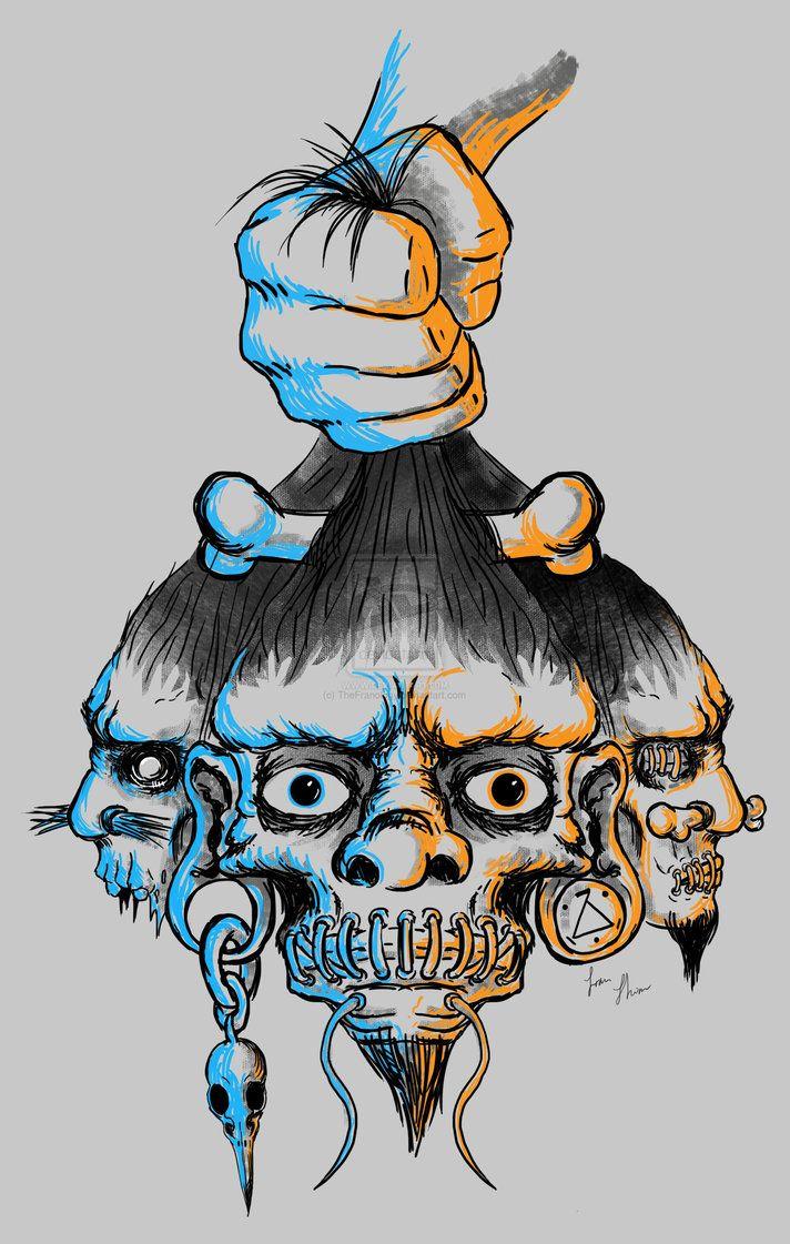 Shrunken Head Art   Shrunken Heads by TheFranology on deviantART