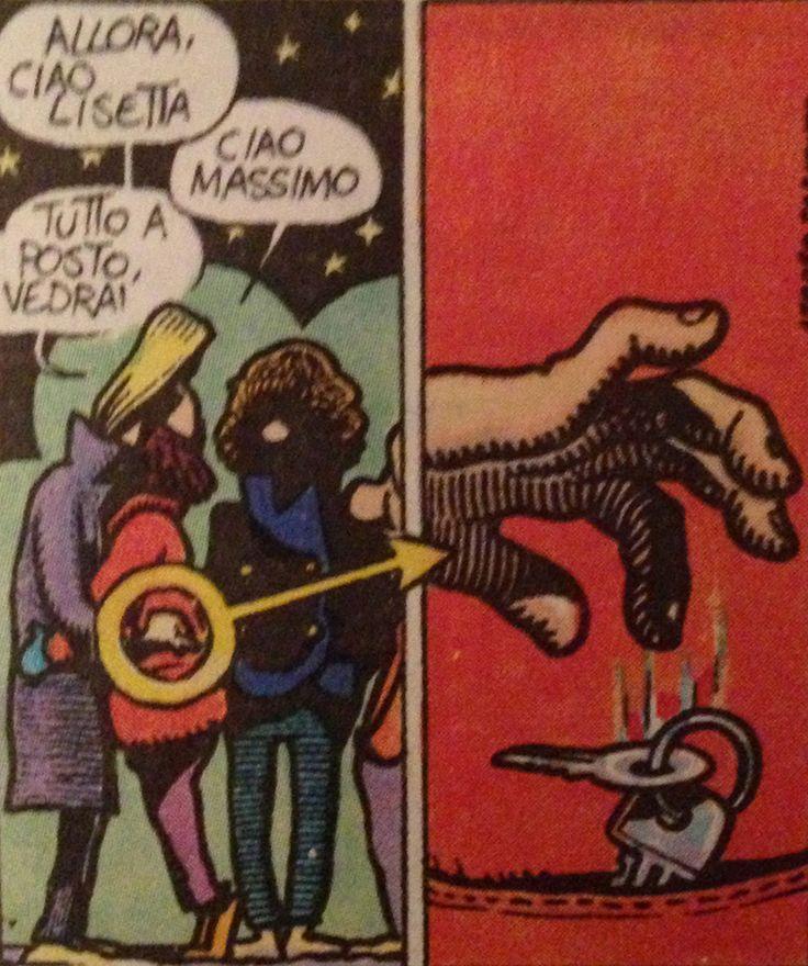 Many years ago the comic readers where a bit less smart, so there was need to be more explicit in the stories --------- anni fa i lettori di fumetti erano meno educati alla lettura di questo media, per cui c'era bisogno di essere più espliciti nelle storie --------- Zanardi (Andrea Pazienza) #comics #fumetto