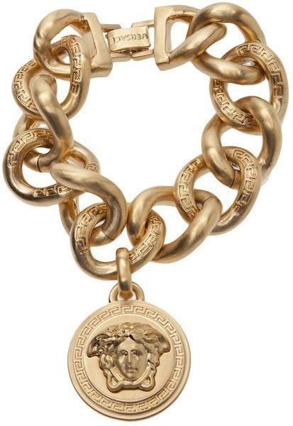 VERSACE Curb Chain Link Bracelet
