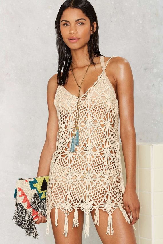 Crochet cover up PATTERN trendy beach cover up by STYLEcrocheting