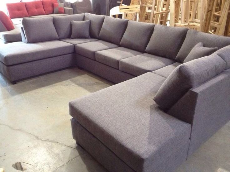 Double chaise u shape sectional 1500 84 inches by 144 for Sofa 84 inch