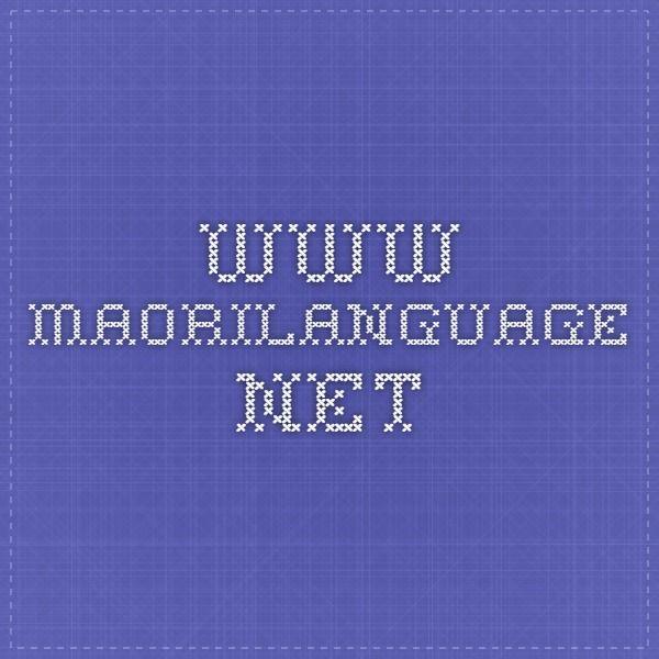 www.maorilanguage.net