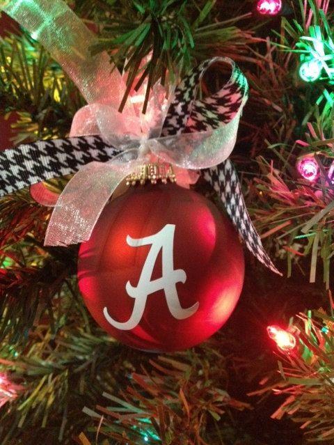 University of Alabama Christmas Ornament -Personalized Alabama Ornament -Alabama Crimson Tide - Roll Tide - Houndstooth
